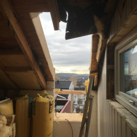 Utvidelse av stuen, takaltan og takvinduer