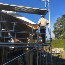 Framdrift på tak, inngangsparti og i kjeller