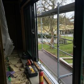 Doble skyvedører i ny stuedel